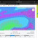Der Wetterbericht für die Biscaya verspricht Ostwind mit 12-15 Knoten