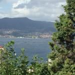 Die Bucht von Vigo mit den vielen Muschelfarmen