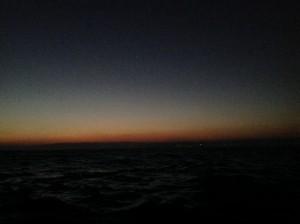 Erster Lichtschein im Osten