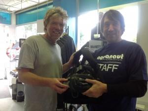 Volker und Peter mit der neuen Ausrüstung