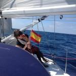 Die spanische Flagge wird gehisst
