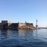 Die Hafeneinfahrt vom La Coruña