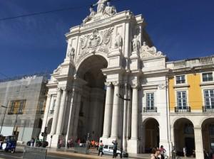 Der große Platz mitten in Lissabon