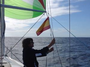 Die spanische Flagge geht