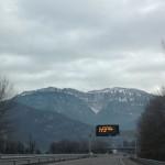 Der erste Schnee taucht nach Grenoble auf