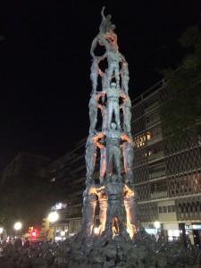 Ein Denkmal auf den Ramblas von Tarragona