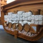 Ein Modell zeigt, wie die Schiffe (ordentlich) gepackt werden sollten