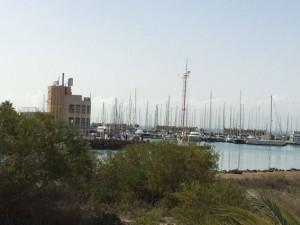 Der Hafen Tomás Maestre am Eingang zum Mar Menor