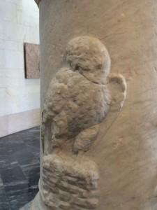 Die Eule, Sinnbild von Minerva, der Göttin der Weisheit und, unter anderem, des Schiffsbaus!
