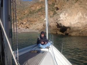 Birger beim Entspannen auf dem Vorschiff