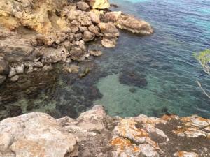 Kristallklares Wasser in den Calas