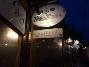 Der Bierkönig aus der Schinkenstraße, heute leider leer…