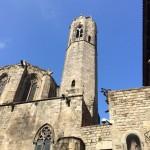 """Der Kirchturm von Santa Maria del Mar, die """"Kathedrale der  Armen"""""""
