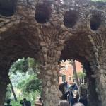 Die Arkaden im Parque Güell