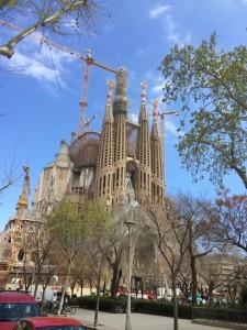 Die Sagrada Familia gibt es wohl nicht ohne Gerüst