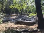 Die Ruinen einer römischen Kirche hoch auf dem Hügel über Nizza