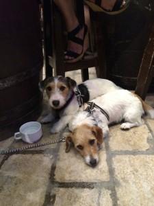 links: Bonnie, rechts, müde: Clyde