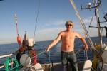 beschäftigter Skipper