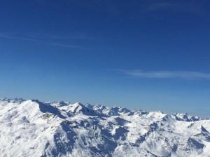 Gute Sicht in den französischen Allen bei 3 Vallées