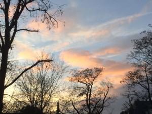 Der Dezember-Himmel über Darmstadt