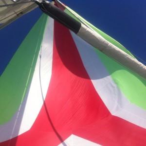 Passend zur italienischen Flagge