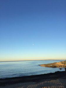 fast windstill ist es in der Bucht von Palma