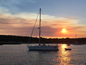 Sonnenuntergang in der Cala Bassa