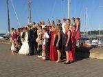 Eine Hochzeit, wo Gersten noch das englische Militär verabschiedet wurde