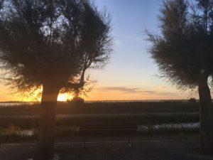 Sonnenuntergang über dem Binnensee