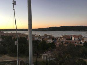 Kurz nach Sonnenuntergang über Gruissan