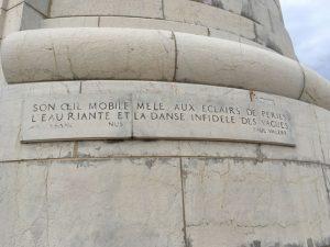 Inschrift am Leuchtturm von Paul Valery