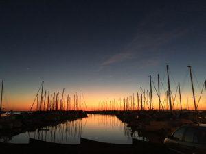 Ein prächtiger Sonnenuntergang verheißt gutes Wetter