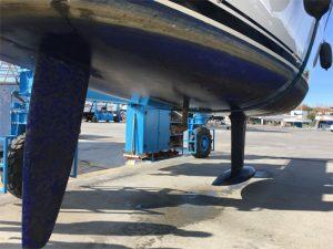 Das Unterwasserschiff präsentiert sich tadellos sauber